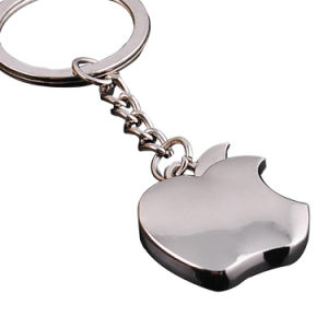 Custom Apple Metal Keychains for Promotion Gifts pictures & photos