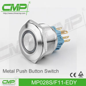 CMP No Nc Anti-Vandal Push Button Switch (28mm, Stainless Steel, TUV CE) pictures & photos