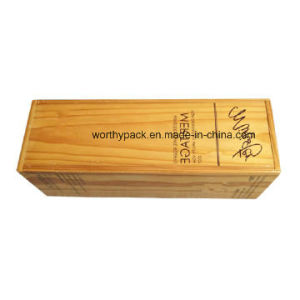 Promotinal Wooden Wine Packaging/Storage Box with Slid Lid