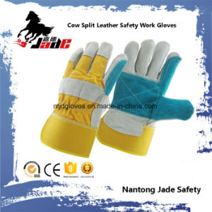 Double Palm Cowhide Split Industrial Safety Hand Leather Work Glove pictures & photos