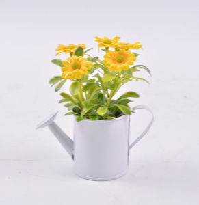 Artificial Wildflowers in Iron Pots for Decoration pictures & photos