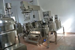 Vacuum Homogenizer Emulsifier Cosmetic Cream Mixing Machine pictures & photos