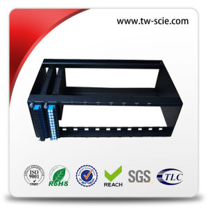 Rack Mounted MPO Patch Panel with 1u Fiber Optic Patch Panel with Cold Rolled Steel pictures & photos