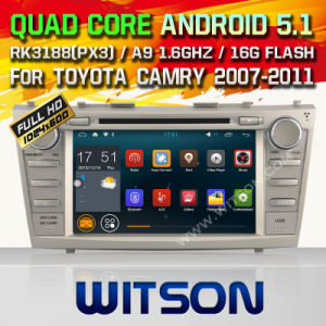 Witson Android 5.1 Car DVD for Toyota Camry 2007-2011 (F9117T) pictures & photos