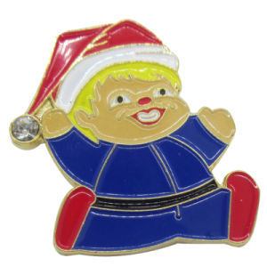 Customized Christmas Santas Logo Soft Enamel Lapel Pin pictures & photos