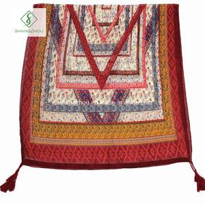 Nepal Folk Style Geometric Cashew Printed Lady Fashion Scarf pictures & photos