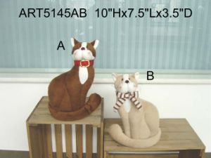 Cute Fleece Cat Home Decoration Toys-2asst. pictures & photos