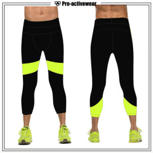 Nylon Spandex Men Compression Pants Custom Fashionable Sports Wear Tights pictures & photos