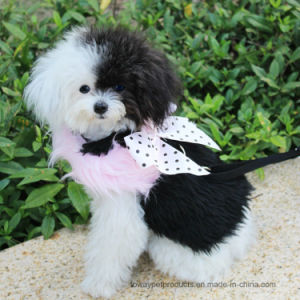 Luxury Dog Products Black Fleece Fur Pet Harness with Lead pictures & photos