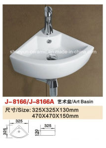 Sanitary Ware Bathroom Fitting Wall-Hung Wash Basin Bathroom Sink (J-8300) pictures & photos