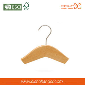 Simple Style Flat Body Wooden Clothes Hanger pictures & photos