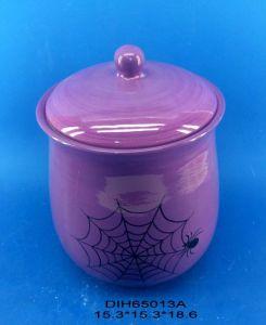 Ceramic Pumpkin Storage Jar for Halloween Decoration pictures & photos