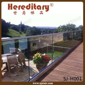 304 Stainless Steel+ Aluminum Deck Glass Railing Outdoor (SJ-H030) pictures & photos