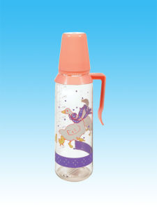 Different Sizes of Hot Selling Nice Glass Feeding Bottle/Nursing Bottle/Baby′s Bottle, with Handle