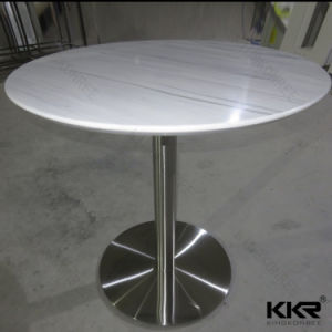 Wholesale Artificial Texture Solid Surface Round Marble Top Table pictures & photos