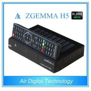 Worldwide Available Zgemma H5 Multistream Satellite/Cable Receiver Dual Core Linux OS MPEG4 H. 265 DVB-S2+T2/C Twin Tuners pictures & photos