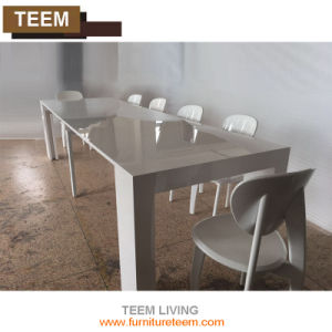 Wooden Dining Table Designs Tempered Extendable Dining Table pictures & photos