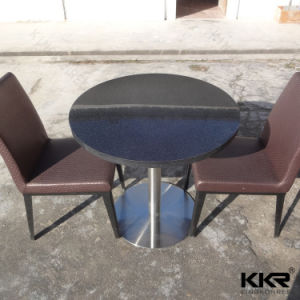 Scratch Resistance Quartz Stone Top Round Dining Dinner Table pictures & photos