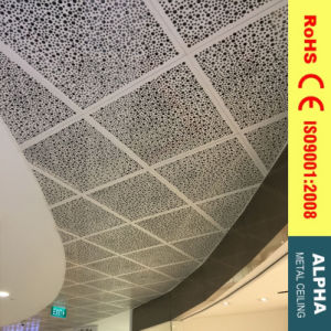 Metal Suspended Irregular Perforated Aluminum Clip in Tile Ceiling pictures & photos