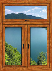 Casement Aluminum Window with Transom Made in China pictures & photos
