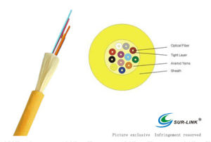Yellow Multi Purpose Distribution 8 Cores Fibers Cable pictures & photos