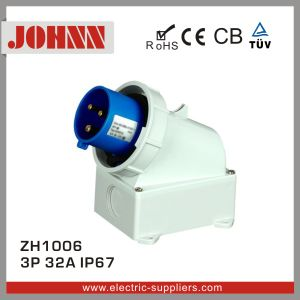 IP67 3p 32A Wall Mounted Plug for Industrial pictures & photos