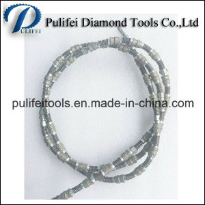 Sinter Rubber Coating Diamond Wire Saw for Stone Quarrying