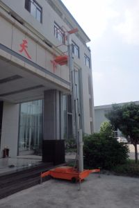 Double Mast Aluminum Alloy Lift/Aerial Work Platform pictures & photos