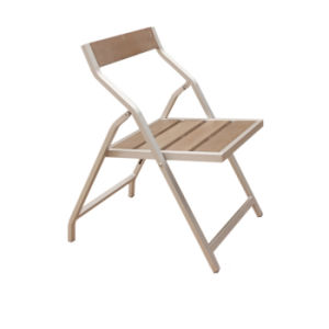 Indoor/Outdoor Patio Sitting Room Wooden Stool Furniture Aluminum Polywood Folding Chair pictures & photos