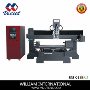 Multi-Spind Woodworking CNC Router with Rotary Axis Wood Engraving Machine (VCT-TM2512R-12H) pictures & photos