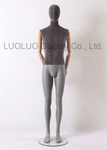 Top Grade Linen Wrapped Male Mannequin with Wooden Arms