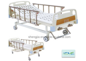 Sjb203mc Luxurious Hospital Bed with Double Revolving Levers pictures & photos