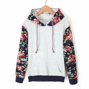 Custom Women Cotton Fleece Fashion Print Hoodies Sports Pullover Top Clothing (AL042)