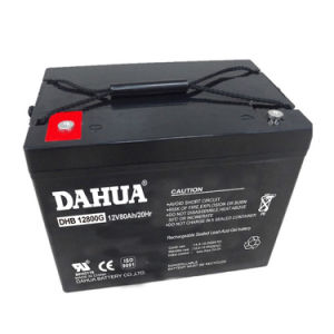 Dahua 12V 80ah Gel Solar Battery for Solar Systems pictures & photos