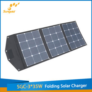 Sunpower Portable 3*35W Flexible Solar Panel Charger with Bracket