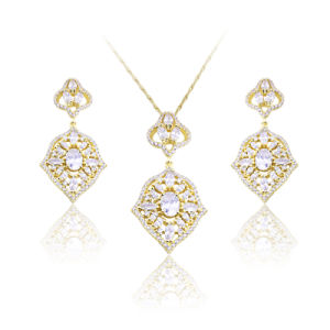 African Fashion Custom Gold Plating Women Jewelry Set pictures & photos