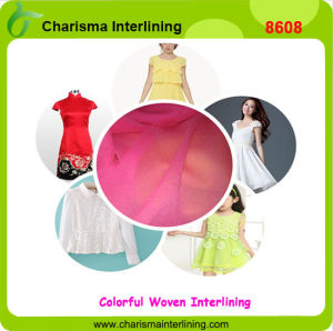24GSM Black DOT Garment Accessory Woven Fusing Plain Fabric Interlining pictures & photos