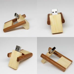 Best-Selling Rotating Wooden USB Flash Drive pictures & photos