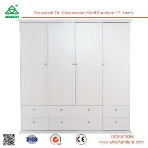 4 Door Perfect for Hanging Fair Price Furniture Wardrobe, Wooden Bedroom Wardrobe pictures & photos