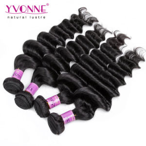Big Curly Peruvian Virgin Human Hair Weft pictures & photos