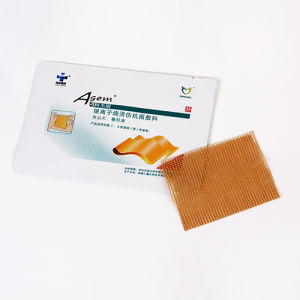 High End FDA 510k Silver Antibacterial Silver Ion Nonwoven Antimicrobial Wound Dressing pictures & photos