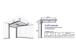 Parking Sectional Overhead Door Curtains (Hz-SD017) pictures & photos