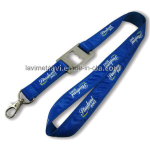 Custom Printed Neck Polyester Nylon Lanyard with Bottle Opener pictures & photos