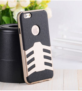 2 in 1 Airship Series Full Covered Cell Phone Case for iPhone6s/6 Plus