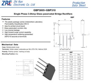 2A GBP Bridge Rectifier Diode GBP3005 GBP310 GBP Package pictures & photos