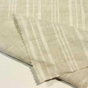 100% Linen Jacquard Fabric Dyed Yarn Fabric Stripes Fabric for Shirt Skirt Dress Sofa pictures & photos