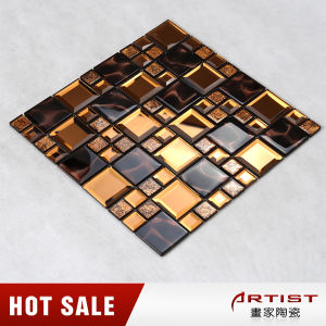 Mixed Colors Glass Decoration Pieces Mirror Mosaic Tile for Interior pictures & photos