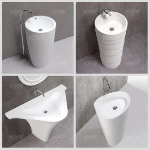 Composite Stone Resin Commercial Freestanding Basin pictures & photos