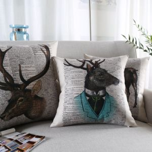 Competitive Cotton Linen Accent Pillow Covers for Home pictures & photos