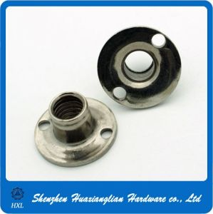 M6/M8/M10 Stainless Steel Round Base Tee Nuts with Holes pictures & photos